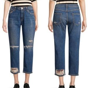 Current/Elliott Repaired Fling Plaid Jeans A3801